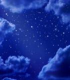 De sterrige Hemel van de Nacht Stock Afbeeldingen