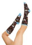 De stersok van benen omhoog Stock Fotografie