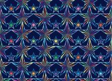 De sterstraal verbindt dichtbij naadloos patroon royalty-vrije illustratie