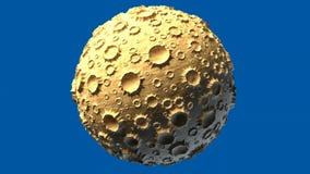 De stervormige maan roteert rond de as stock videobeelden