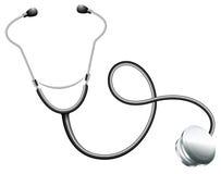 De stethoscoop van een arts stock illustratie