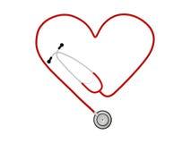 De Stethoscoop van het hart Royalty-vrije Stock Afbeeldingen