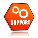 De steun en de toestellen ondertekenen in hexagon knoop Royalty-vrije Stock Afbeeldingen