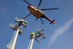 De steun van de helikopter (draadkabelkatrolbatterij) Stock Afbeelding