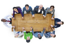 De Steunconcept diversiteits van het Bedrijfsmensengroepswerk Stock Fotografie