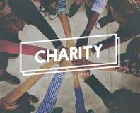 De Steunhulp Assiting die van liefdadigheidsschenkingen Welzijnsconcept geven stock fotografie