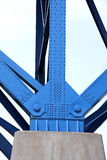 De steunstralen van de brug stock afbeelding