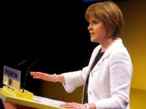 De Steur van Nicola, de Schotse Minister van de Gezondheid Stock Foto's