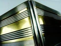 De stevige zilveren en gouden uitstekende luxe van het sigaretgeval Stock Foto
