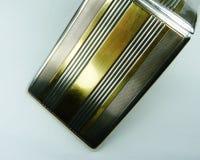 De stevige zilveren en gouden uitstekende luxe van het sigaretgeval Stock Foto's
