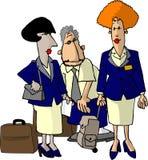 De Stewarden van de luchtvaartlijn royalty-vrije illustratie