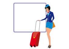 De stewardess Stock Foto's
