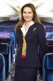 De stewardess van de lucht Stock Fotografie