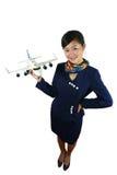 De stewardess van de lucht Stock Afbeelding