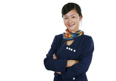 De stewardess van de lucht royalty-vrije stock foto