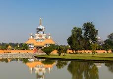 De Stichting van Drigungkagyud Dharmaraja, Boeddhistische tempel, Lumbini, Nepal stock afbeelding