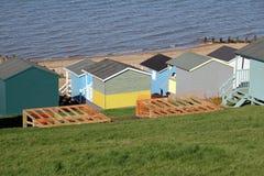 De stichtingen van de strandhut stock afbeelding