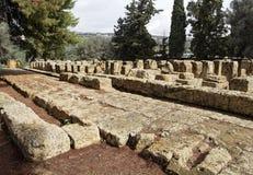 De Stichtingen van de tempel - Agrigento Stock Afbeelding
