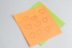 de sticker herinnert nota's en andere verslagen eraan, Royalty-vrije Stock Afbeeldingen