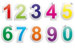 De sticker van aantallen Stock Foto's
