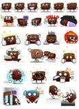 De Sticker van chocoladekarakters stock afbeeldingen