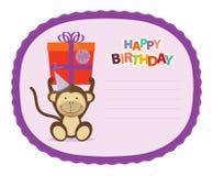 De Sticker van de aap royalty-vrije illustratie