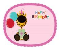 De Sticker van de giraf royalty-vrije illustratie