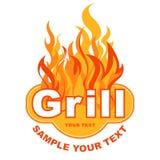 De sticker van de grill Royalty-vrije Stock Foto's