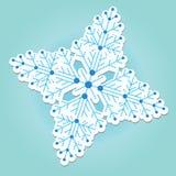 De sticker van de sneeuwvlok Royalty-vrije Stock Foto's