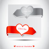 De sticker van de valentijnskaart Royalty-vrije Stock Foto