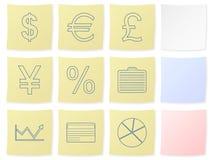 De sticker van financiën stock illustratie