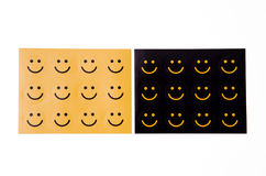 De sticker van glimlachen Stock Afbeeldingen