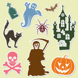 De sticker van Halloween Stock Foto