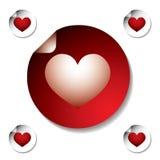 De sticker van het hart Stock Afbeeldingen