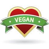 De sticker van het het voedseletiket van de veganist stock illustratie