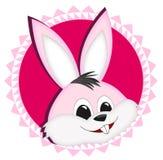 De sticker van het konijntje Stock Foto