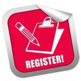 De sticker van het register Stock Afbeeldingen