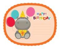 De Sticker van Hippo stock illustratie