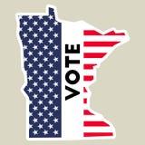De sticker van de de presidentsverkiezing 2016 stem van de V.S. vector illustratie