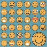 De stickerinzameling van het emotiegezicht Royalty-vrije Stock Afbeeldingen