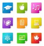 De stickerpictogrammen van het onderwijs Royalty-vrije Stock Afbeelding