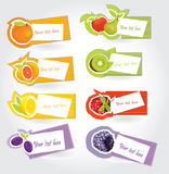 De stickerreeks van het fruit Stock Foto