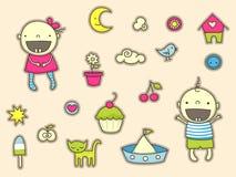 De stickers van de baby Stock Fotografie