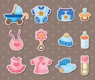 De stickers van de baby Stock Afbeeldingen