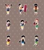 De stickers van de bokser Stock Foto's