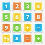 De Stickers van de calculatorknoop Stock Foto