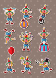 De stickers van de clown Royalty-vrije Stock Afbeelding