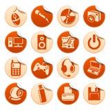 De stickers van de computer Stock Afbeeldingen