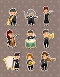 De stickers van de de muziekspeler van het orkest Royalty-vrije Stock Afbeelding