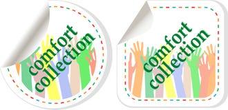 De stickers van de de slijtageinzameling van het comfort Royalty-vrije Stock Foto